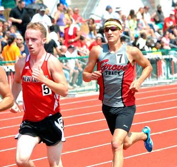 Columbus Grove's Jake Graham competes in the 3200-meter run Saturday at the Division III state track and field meet.