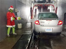 Even the Grinch likes a clean car