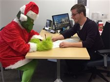 The Grinch steps up his game with a new Lease from Ottawa Chevy!