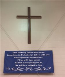 St. Anthony's High Flyers donate cross for school