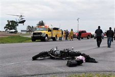 Ottawa man hospitalized after motorcycle/SUV accident