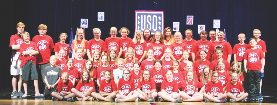 The Putnam County Children's Theatre cast prepared for their patriotic summer production